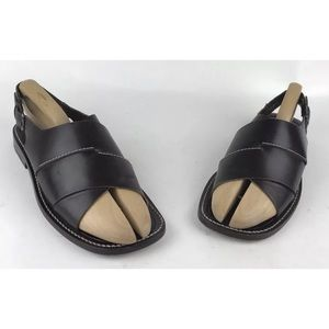 Mezlan Vero Cuoio Leather Loafer Open Toe Sandals